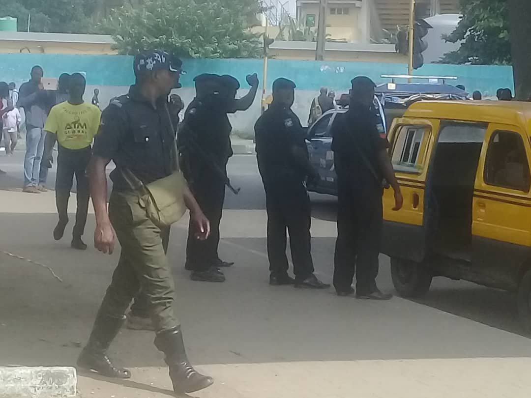 #RevolutionNow: Security Agents Stage Show Of Force To Check Protests