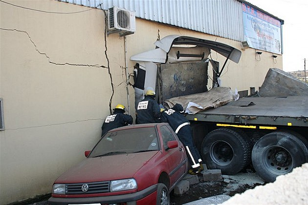 One Dead, Five Injured As Truck Crashes Into Building