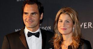 Roger Federer and wife, Mirka