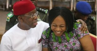 Ifeanyi Okowa and wife, Edith